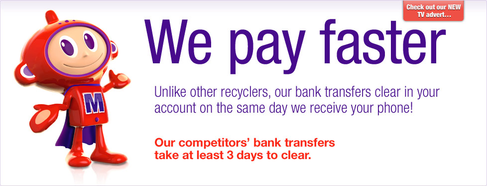 Maz says, get paid on the same day we receive your phone. Find out more.
