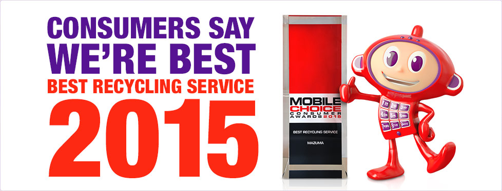 Mazuma Mobile - Winner Best Recycling Provider 2015