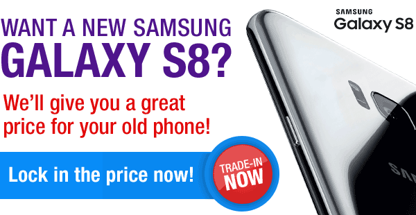 Promotional banner - Want a new Samsung S8?