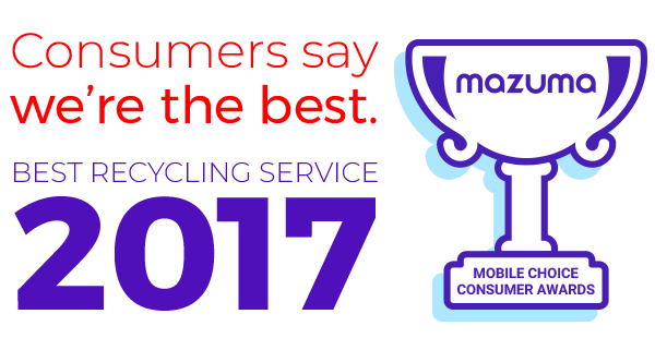Consumers say we're the best Recycling Service 2017