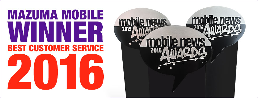 Mazuma Mobile - Winner Best Customer Service 2016